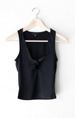 NYCT Clothing Tie Front Crop Top