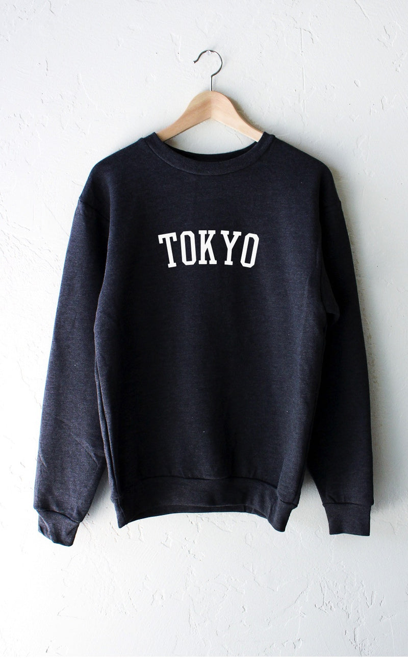 NYCT Clothing Tokyo Sweatshirt - Dark Heather Grey