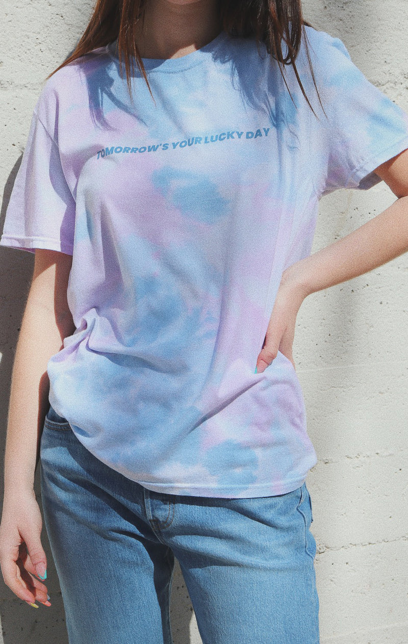 NYCT Clothing Tomorrow's Your Lucky Day Tie Dyed T-shirt - Purple