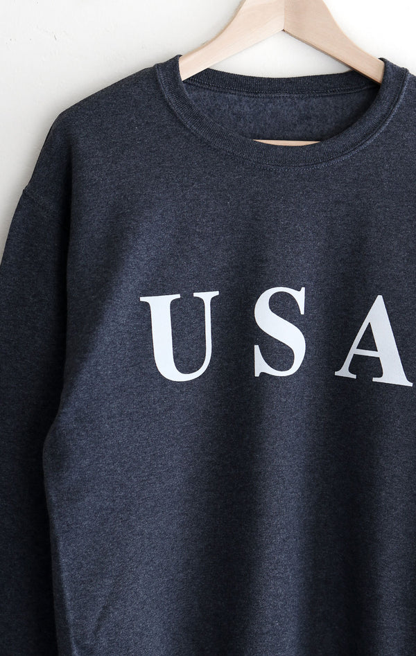 NYCT Clothing USA Sweatshirt - Dark Heather Grey