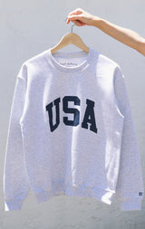 NYCT Clothing USA Sweatshirt - Ash Grey
