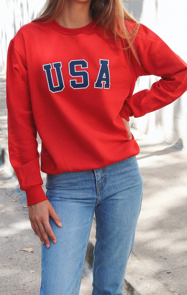 NYCT Clothing USA Sweatshirt - Red