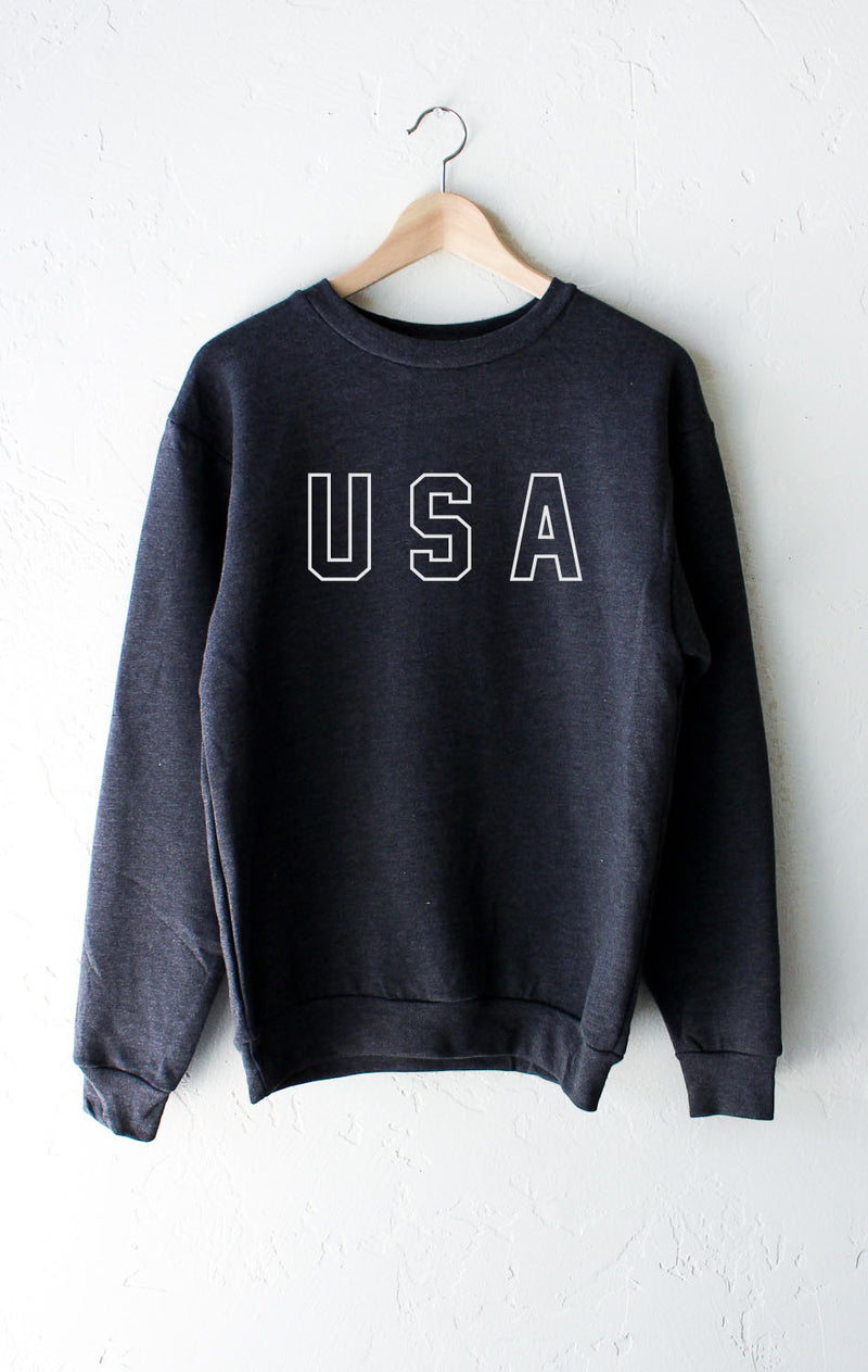 NYCT Clothing USA Sweater - Dark Heather Grey