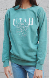NYCT Clothing Utah Mountains Sweatshirt - Green