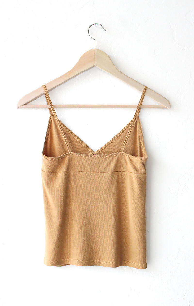 NYCT Clothing V-neck Cami Top - Mustard