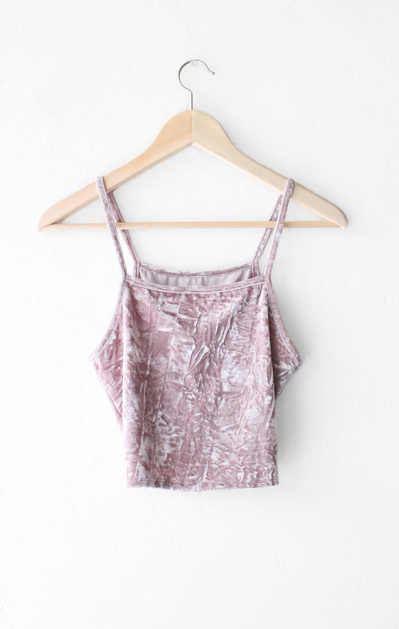 NYCT Clothing Velvet Cami Crop Top