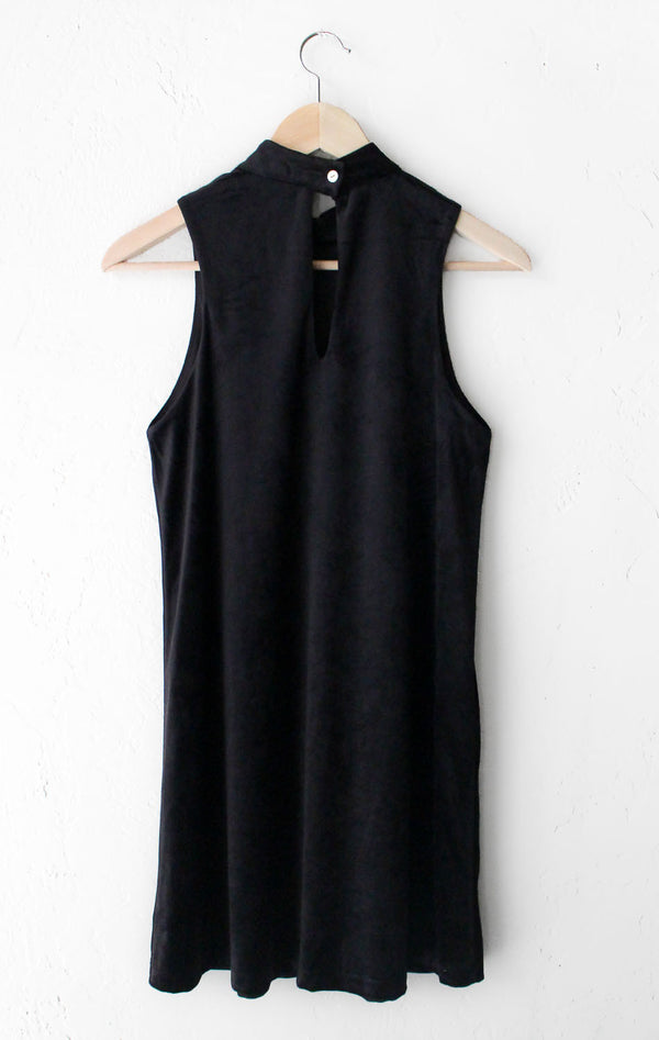 NYCT Clothing Velvet Mock Neck Dress