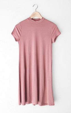 NYCT Clothing Vintage Rose Mock Neck Dress