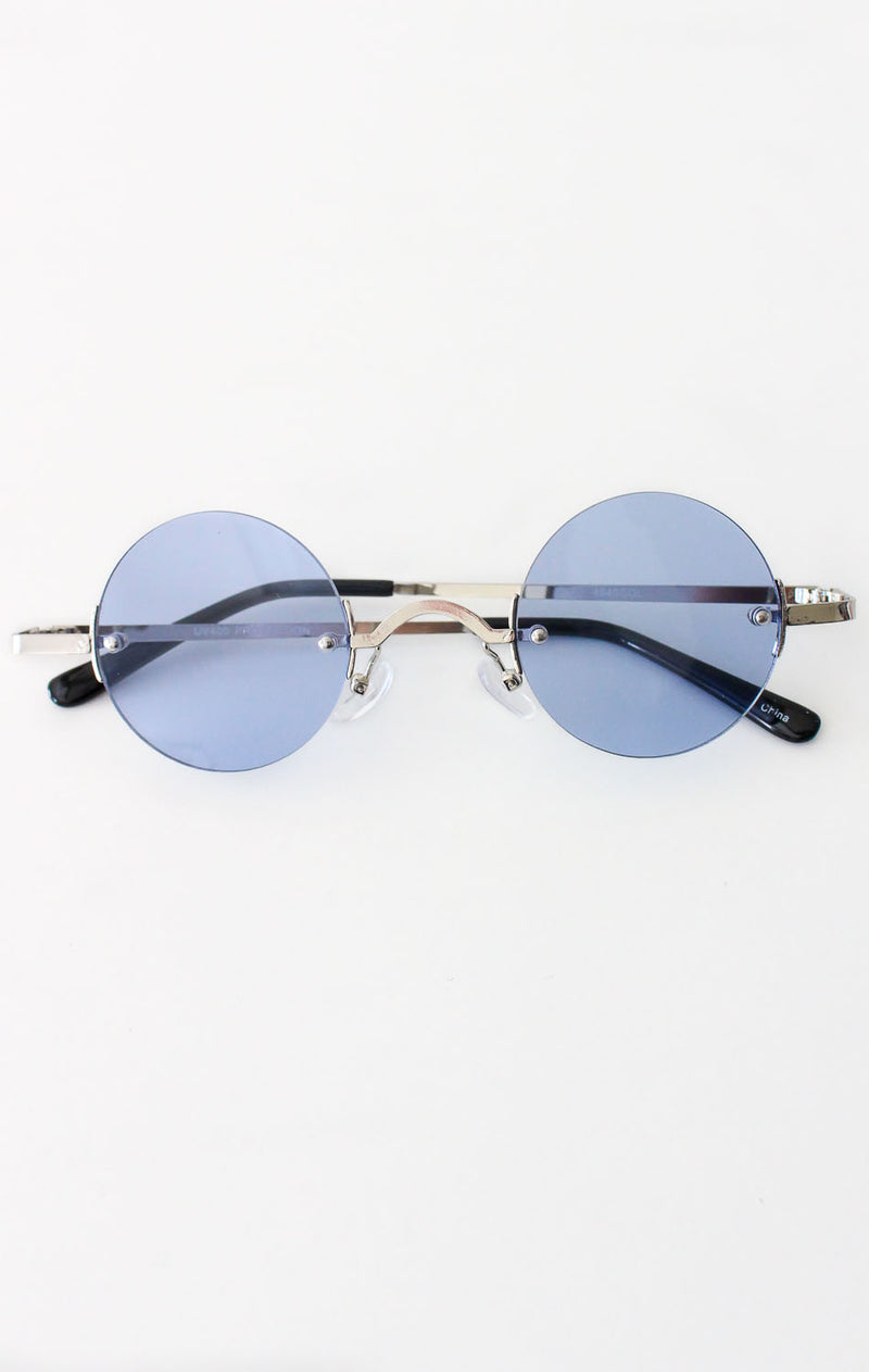 NYCT Clothing Vintage Inspired Round Sunglasses - Blue