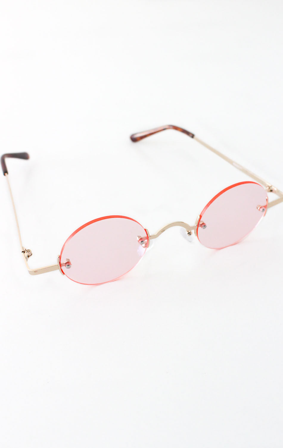 NYCT Clothing Vintage Inspired Round Sunglasses - Pink