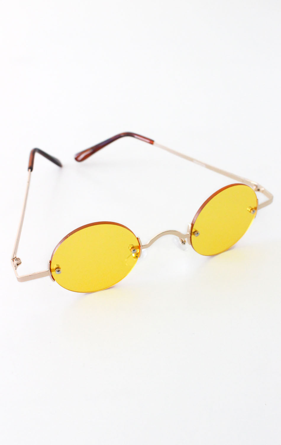 NYCT Clothing Vintage Inspired Round Sunglasses - Yellow