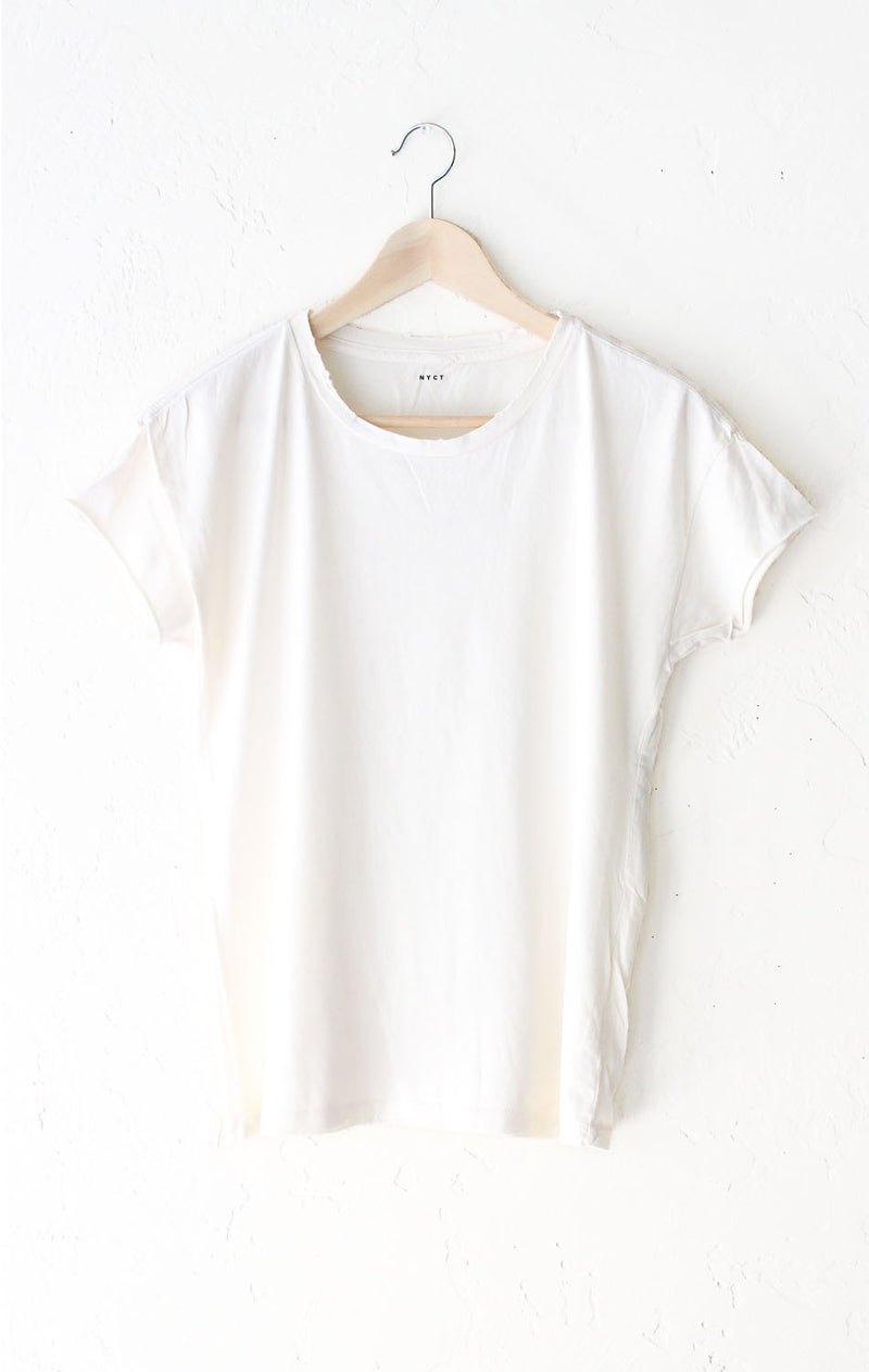 Vintage White Destroyed Tee