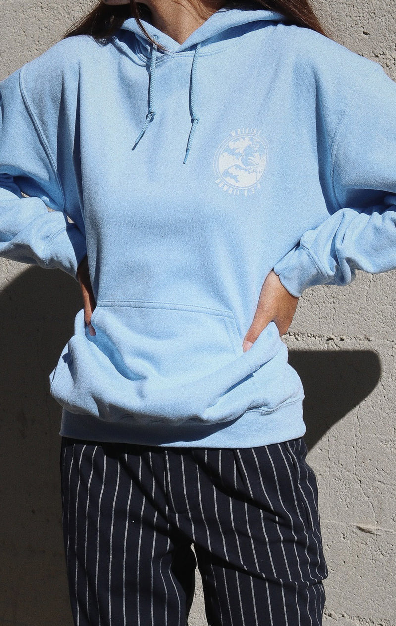 NYCT Clothing Waikiki Hawaii Hoodie - Light Blue