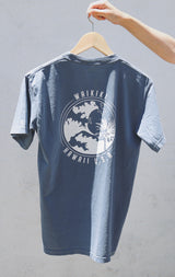 NYCT Clothing Waikiki Hawaii T-shirt - Dusty Blue