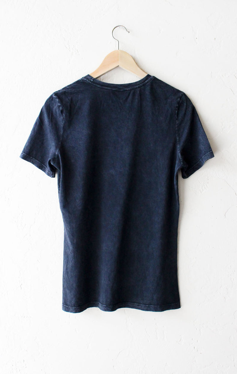 California Relaxed Tee - Acid Wash Black