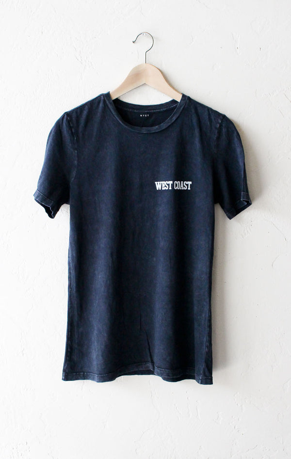 West Coast Relaxed Tee - Acid Wash Black