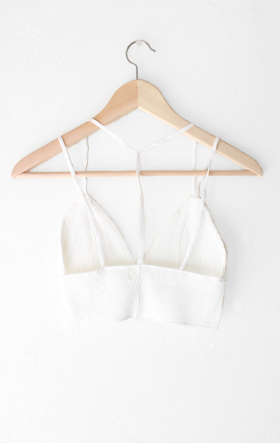 NYCT Clothing Knit V-neck Crop Top