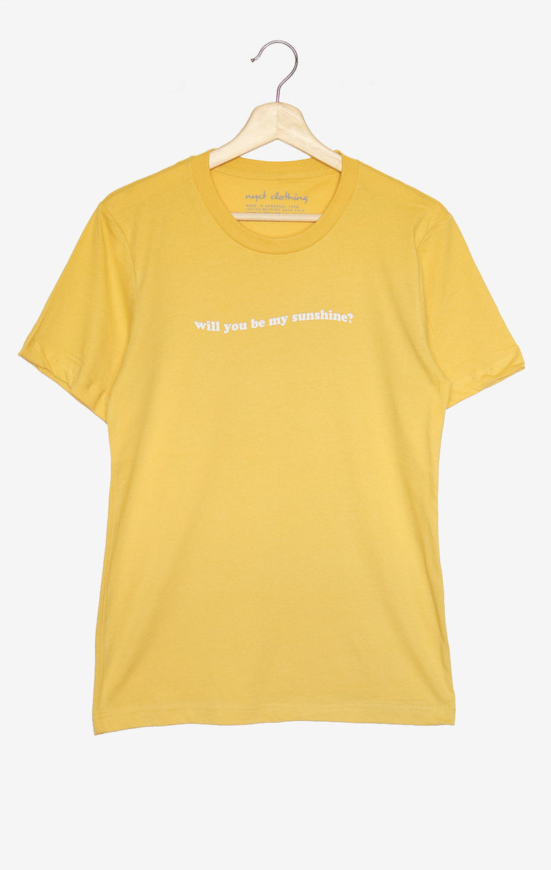 NYCT Clothing Will You Be My Sunshine Tee - Yellow