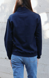 NYCT Clothing Vermont Winter Sports Half Zip Sweatshirt - Navy