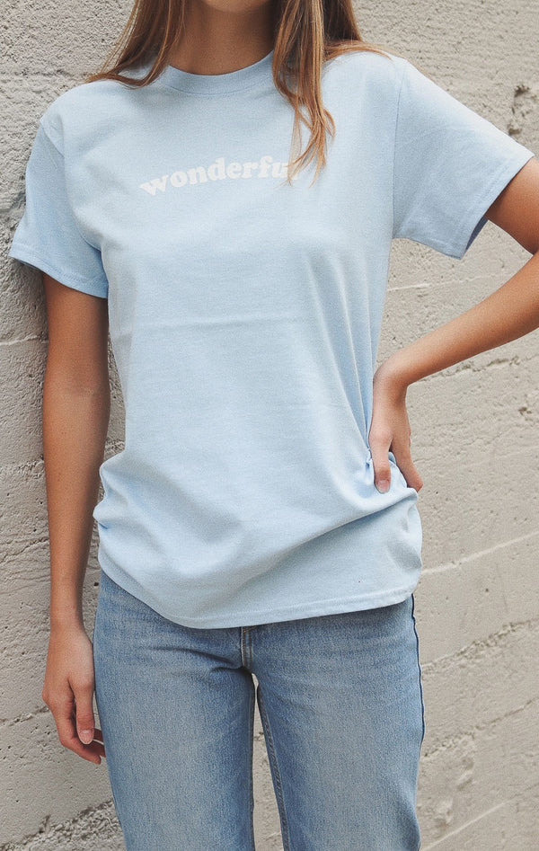 NYCT Clothing Wonderful Tee - Light Blue