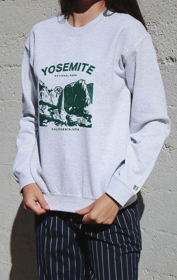 NYCT Clothing Yosemite National Park Sweatshirt - Ash Grey