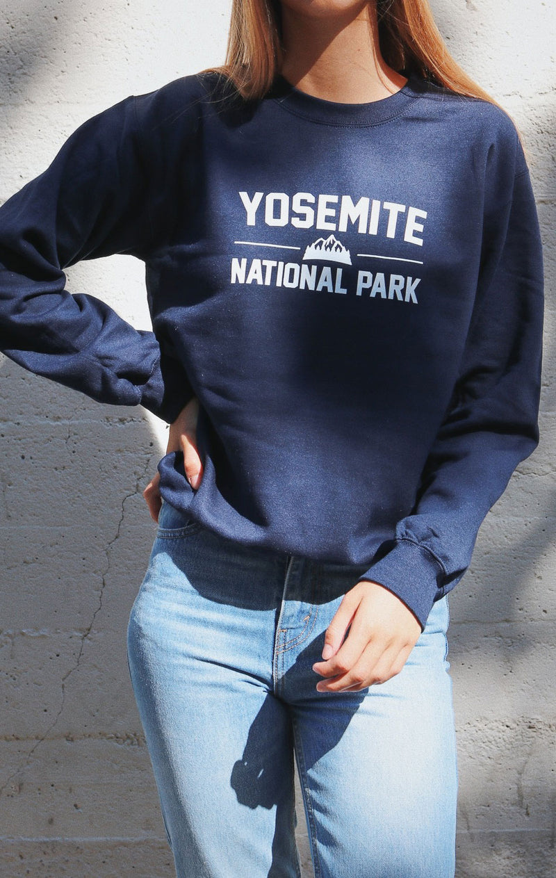 NYCT Clothing Yosemite National Park Sweatshirt - Navy