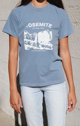 NYCT Clothing Yosemite National Park T-shirt - Dusty Blue