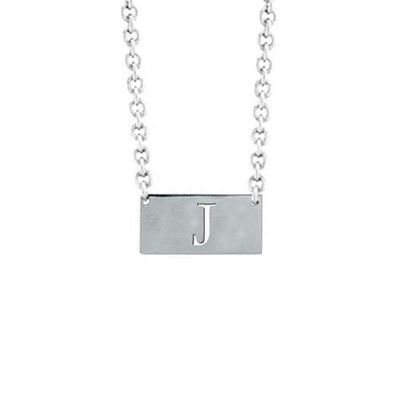 14K Block Letter Cut Out Pendant On Chain Maya J MG503B