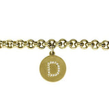 14K Charm Rollo Bracelet With Diamond Initial Maya J B3064