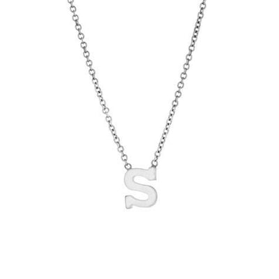 14K Mini Single Initial Pendant With Chain Maya J PC113