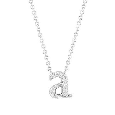 14K Pendant Diamond Mini Lowercase Initial With Chain Maya J PC4125