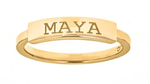 14K Ring Engravable Yellow Maya J R2874