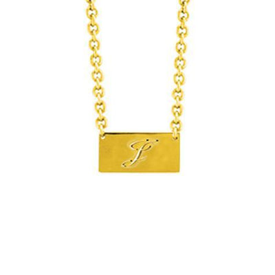 14K Script Letter Cut Out Pendant On Chain Maya J MG503S