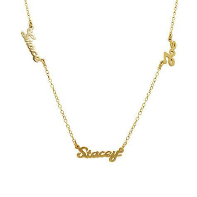 14K Script Multi Name Necklace Maya J MG43S