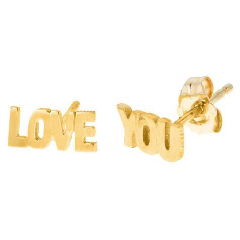 14K Small Love You Earrings Maya J MGELY