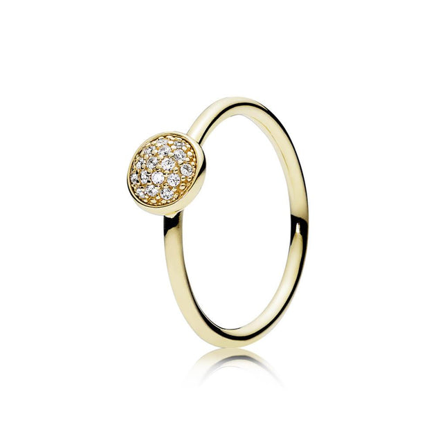 Ring Dazzling Droplet in 14K Gold with Clear Cubic Zirconia