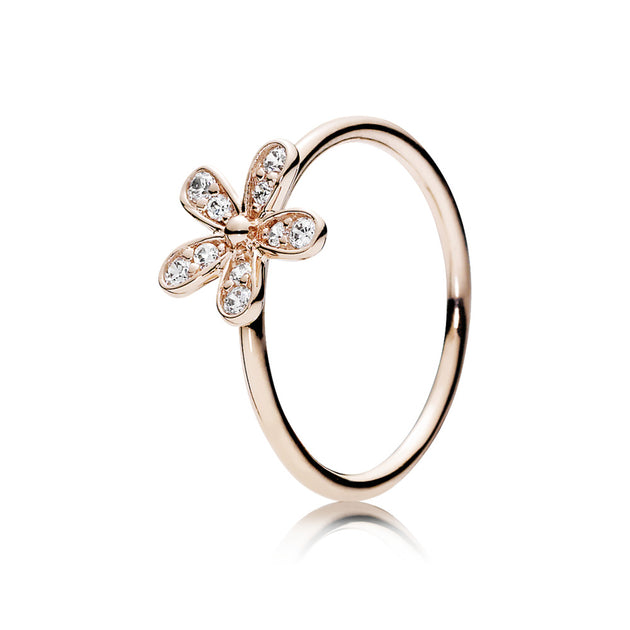 PANDORA Rose Ring Dazzling Daisy with Clear Cubic Zirconia