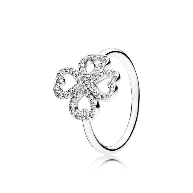 Ring Petals of Love with Clear Cubic Zirconia