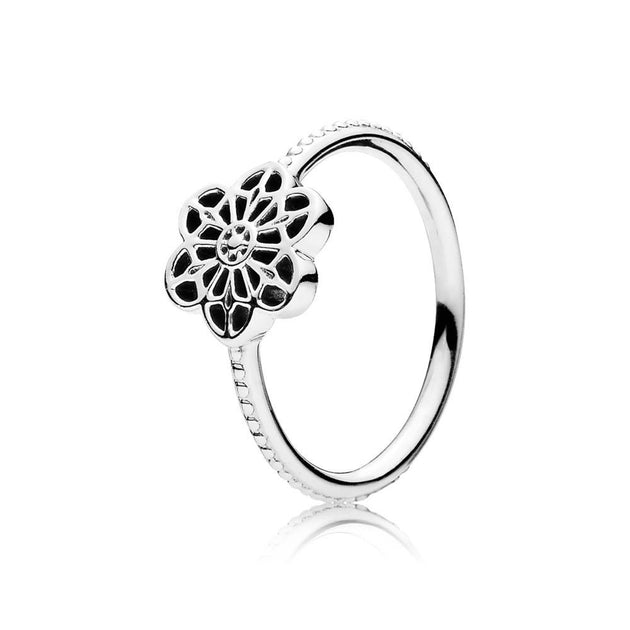 Ring Floral Daisy Lace with openwork design