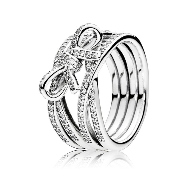 Ring Delicate Sentiments with Clear Cubic Zirconia