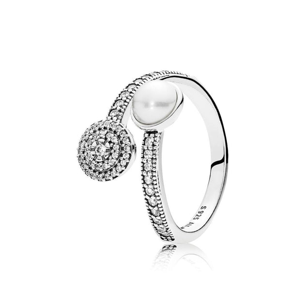 Luminous Glow, White Crystal Pearl & Clear CZ