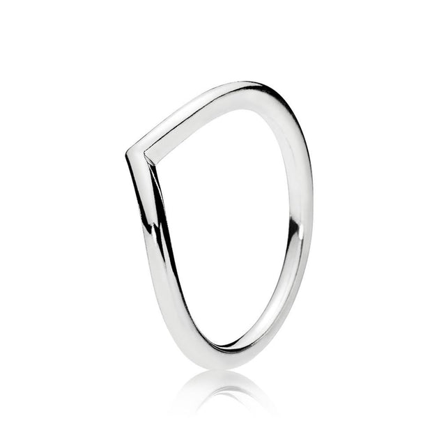 Wishbone ring in sterling silver