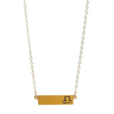 "Zodiac, Libra Necklace, 18"", Gold Dipped"