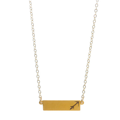 "Zodiac, Sagittarius Necklace, 18"", Gold Dipped"