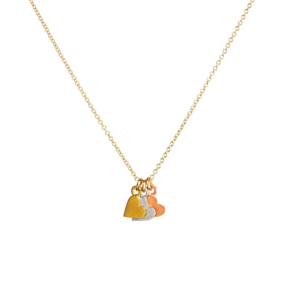 "Yesterday, Today, Forever Necklace, 18"" - Mixed Metals Heart MMD"