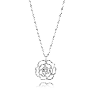 Shimmering Rose, Clear CZ, 90 cm / 35.4 in