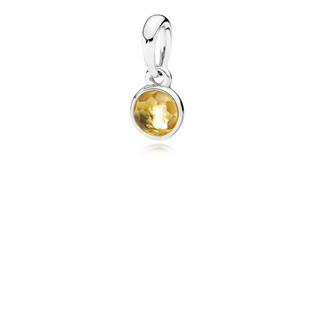 Pendant November Droplet with Citrine