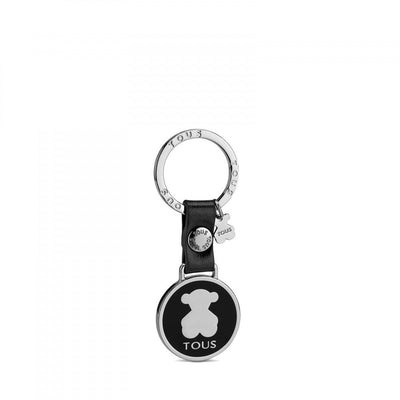Circle Bear Plate Keychain, Tous, Accessories
