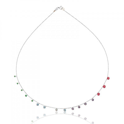 White Gold Suspiro Choker with Gemstones, Tous, Necklace