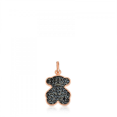 Rose Vermeil Silver Motif Pendant with Spinel, Tous